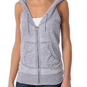 Vans Harbour Burnout Grey Hoodie Sweatshirt Vest S